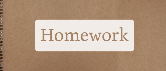 Homework: Family Work